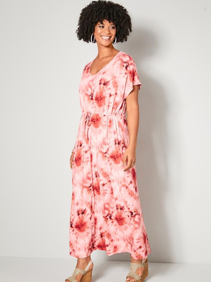 Angel of Style Maxikleid aus Jersey, Pink/Vanille/Koralle