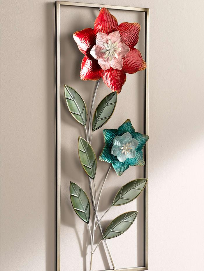 Wanddecoratie Bloem, multicolor