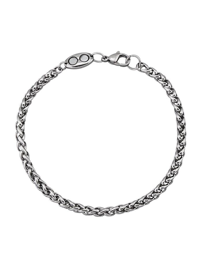 Magnetic Balance Zopfarmband, Edelstahl, Silberfarben