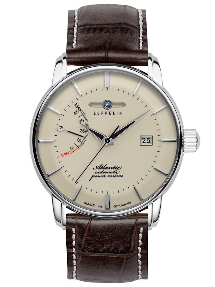 Zeppelin Herren-Armbanduhr Atlantic Automatik Power Reserve 8462, beige