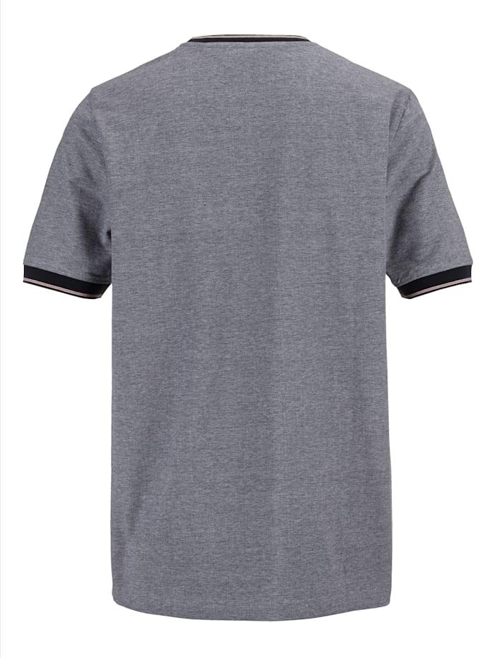 T-shirt met tweekleurige gerstekorrelstructuur