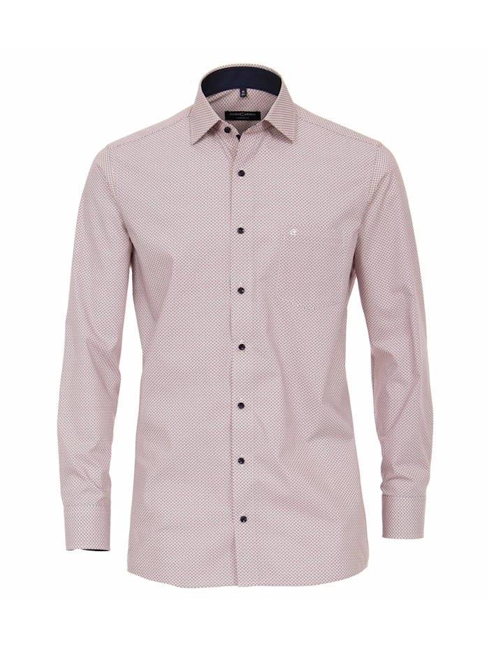 CASAMODA Hemd Print Comfort Fit, Mittelrot