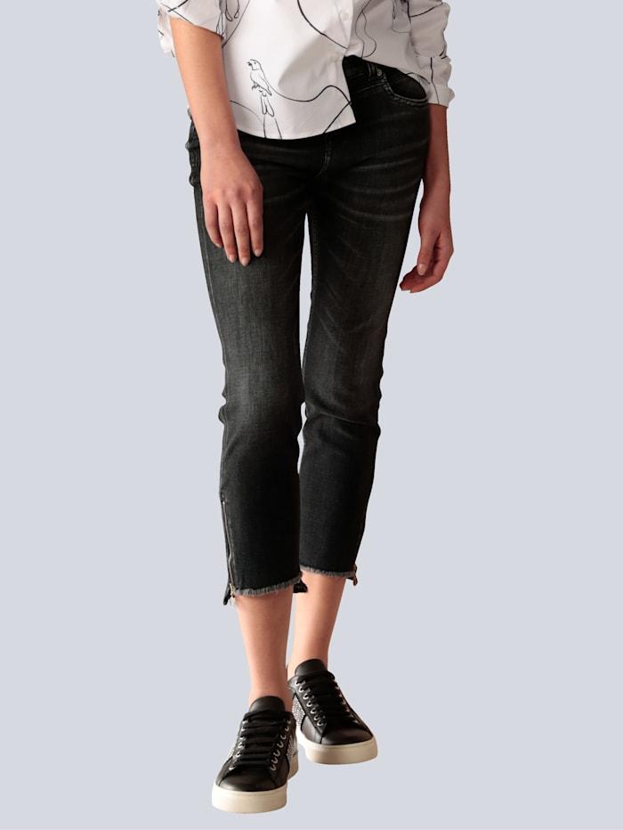 MAC Jeans mit Reißverschluß am Saum, Grau