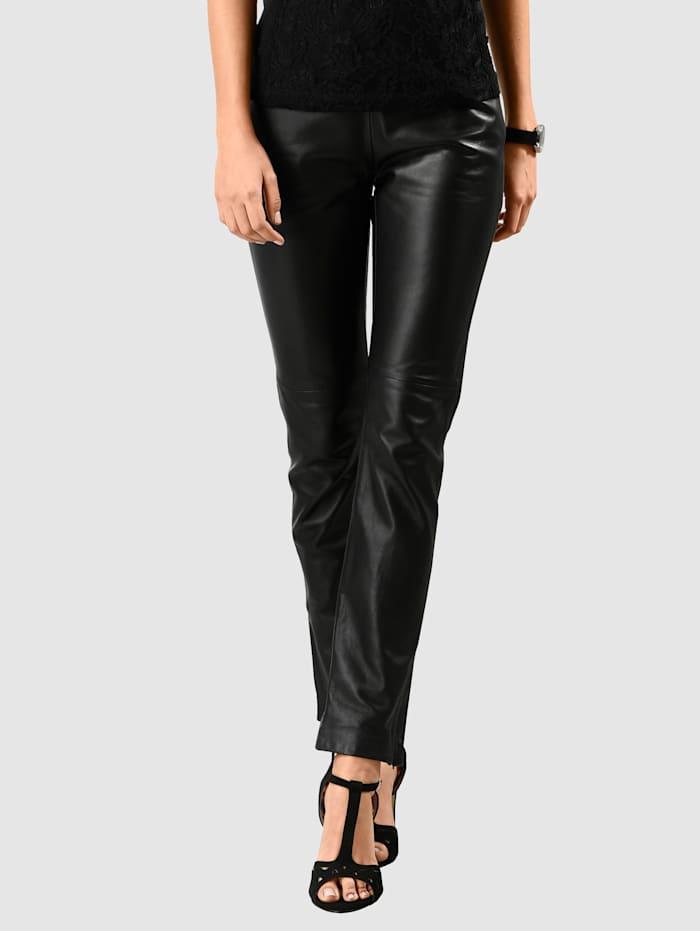 Alba Moda Leren broek van superzacht materiaal, Zwart