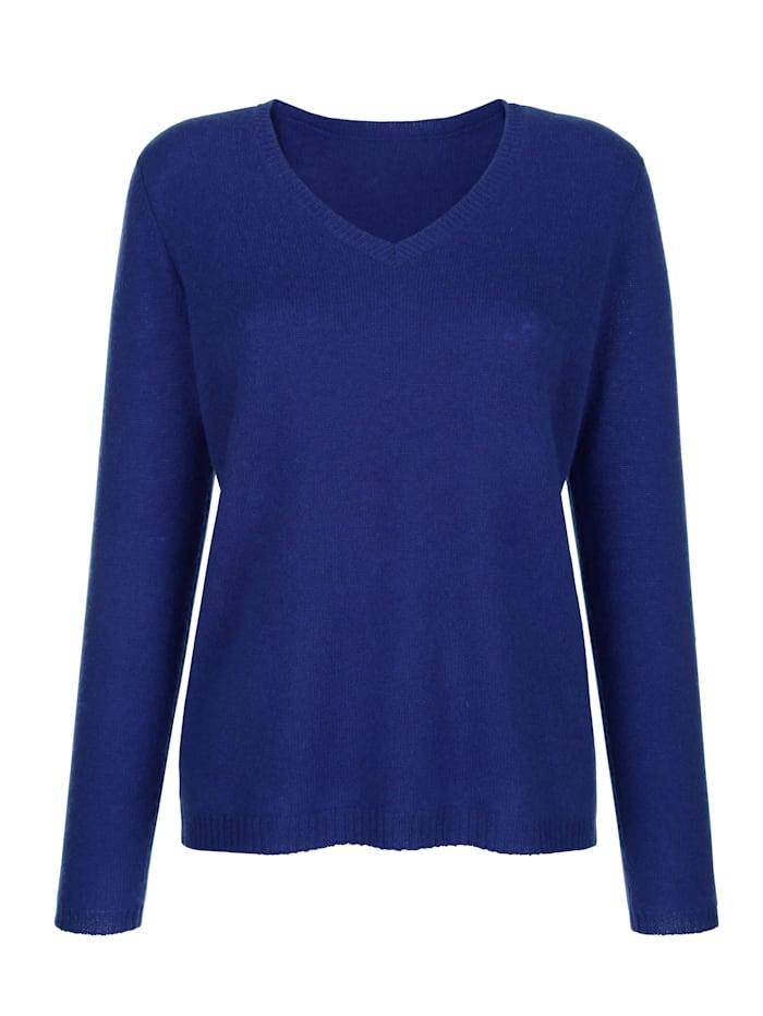 MONA Pullover aus reinem Kaschmir, Royalblau