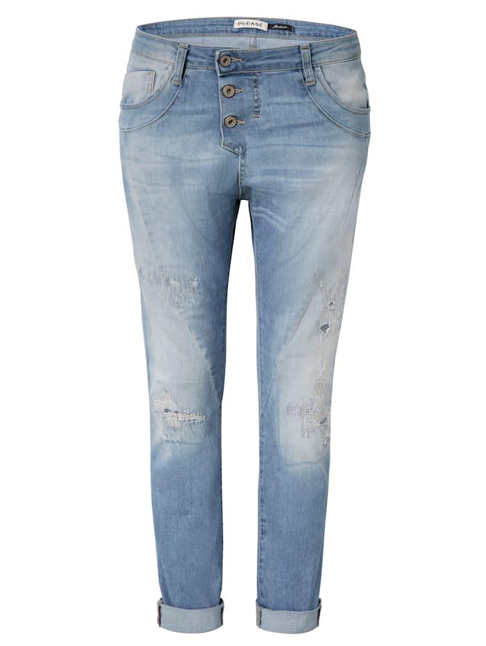 PLEASE Jeans, Hellblau