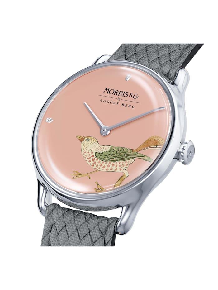 Uhr MORRIS & CO Silver Bird Grey Perlon 30mm