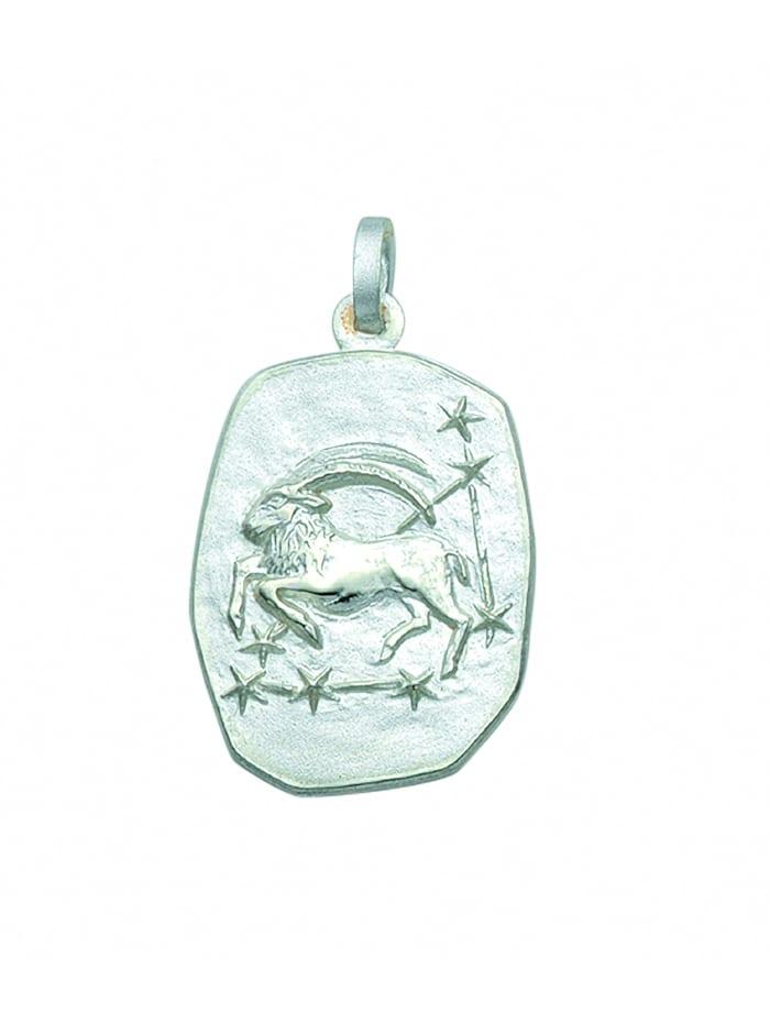 1001 Diamonds Damen & Herren Silberschmuck 925 Silber Sternzeichen Anhänger Steinbock, silber