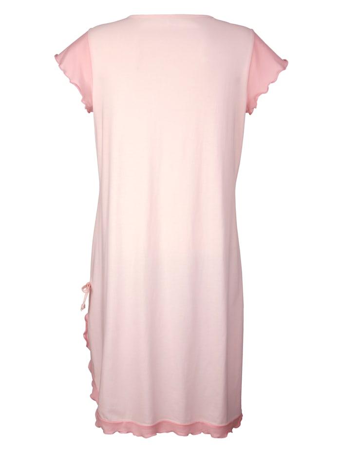 Nachthemd met elegant kanten motief