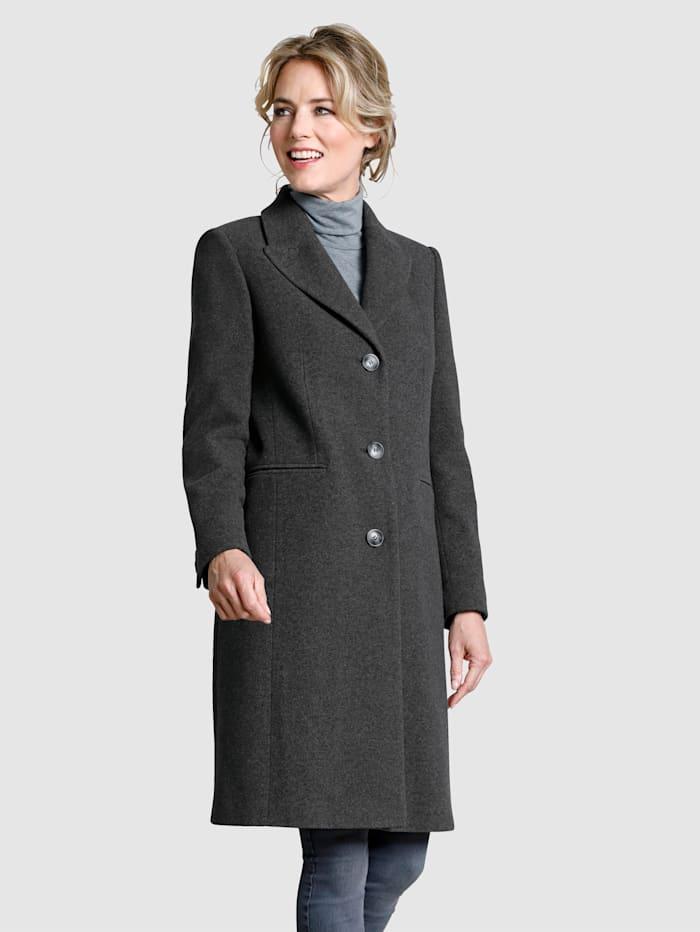 Dress In Wollmantel in angesagter Midilänge, Grau