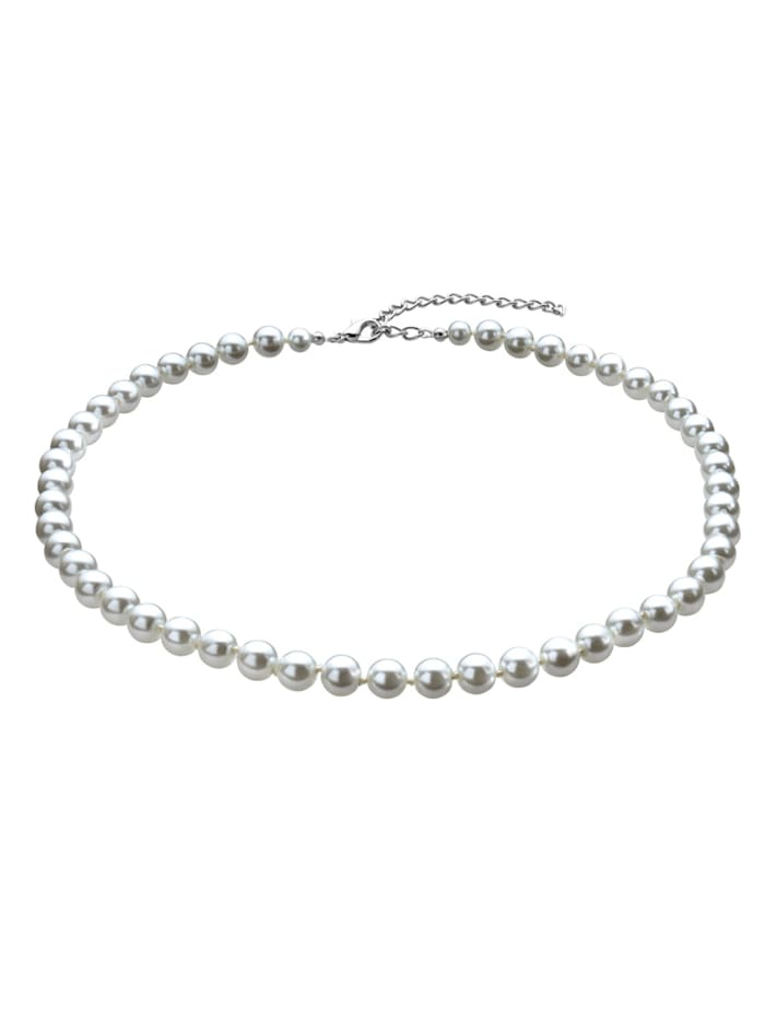 Collier en perles de verre, Blanc