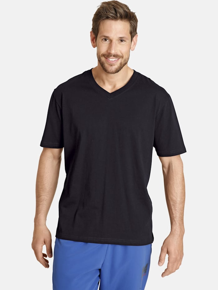 Jan Vanderstorm Jan Vanderstorm Doppelpack T-Shirt OSMO, schwarz
