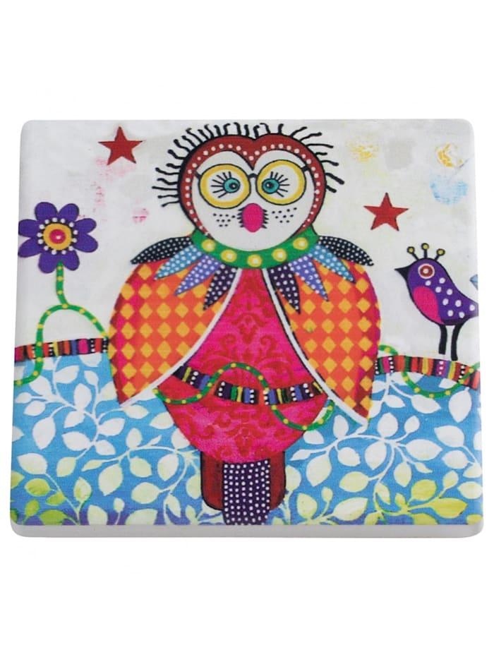 Maxwell & Williams Smily Style Keramikuntersetzer Boobook, Farbig