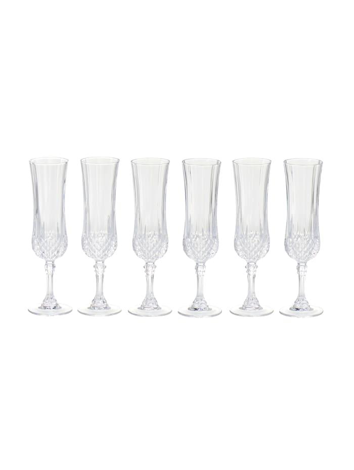 CHRISTAL D'ARQUES Glas-Set, 6-tlg., klar, Sektglas-Set