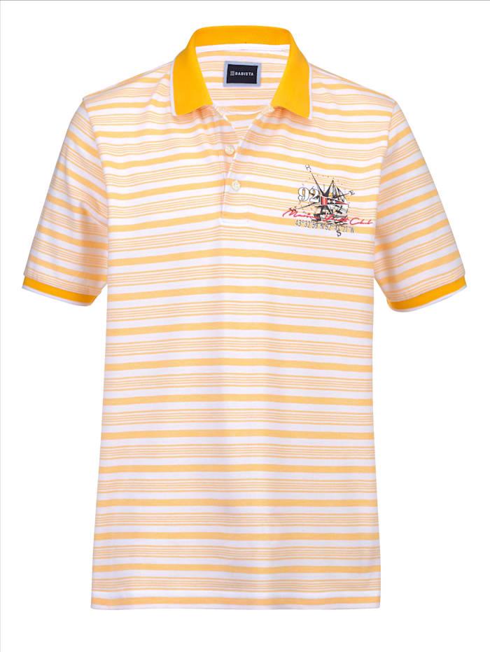 BABISTA Poloshirt met ingebreide strepen, Geel/Wit