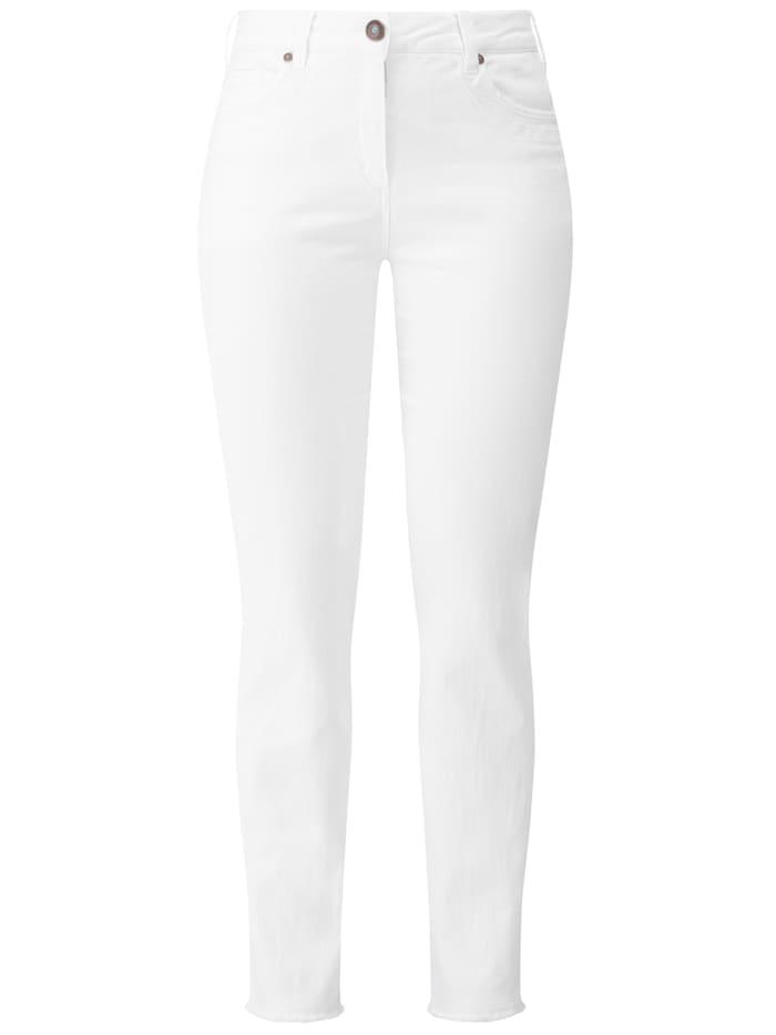 RECOVER Pants Jeans  mit Stickerei, weiß