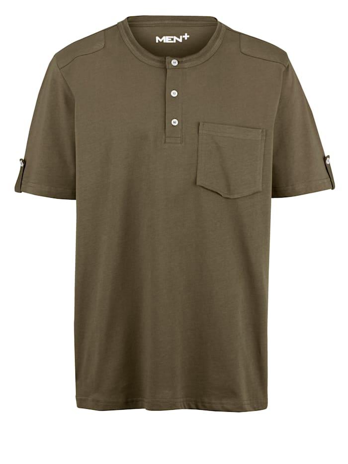Men Plus T-shirt av 100% bomull, Olivgrön
