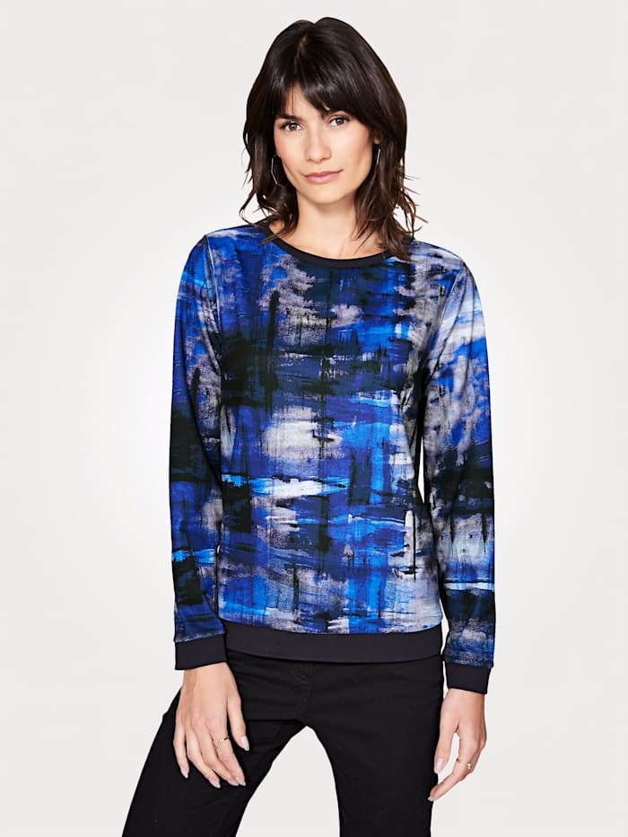 Artigiano Jersey top with a graphic print, Multi