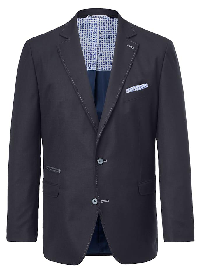 Veste de costume avec couture contrastante