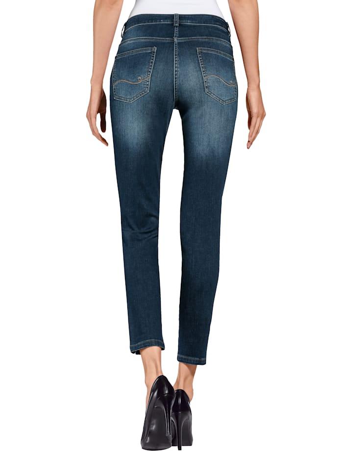 Jeans met splitten