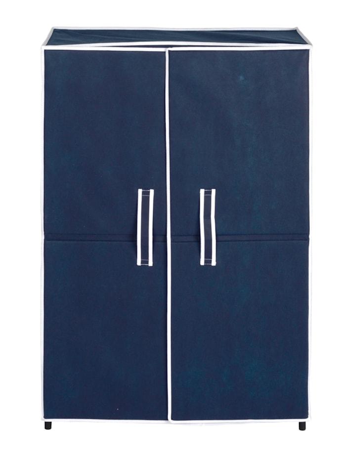 Wenko Schuhschrank Air mit 5 Böden, für bis zu 15 Paar Schuhe, Stoff: Blau, Gestell