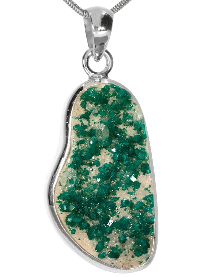 1001 Diamonds Damen Schmuck Edelstein Dioptas Anhänger 925 Silber grün, grün