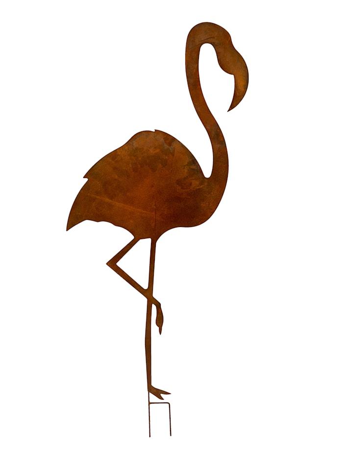 IMPRESSIONEN living Outdoor-Stecker, Flamingo, rostbraun