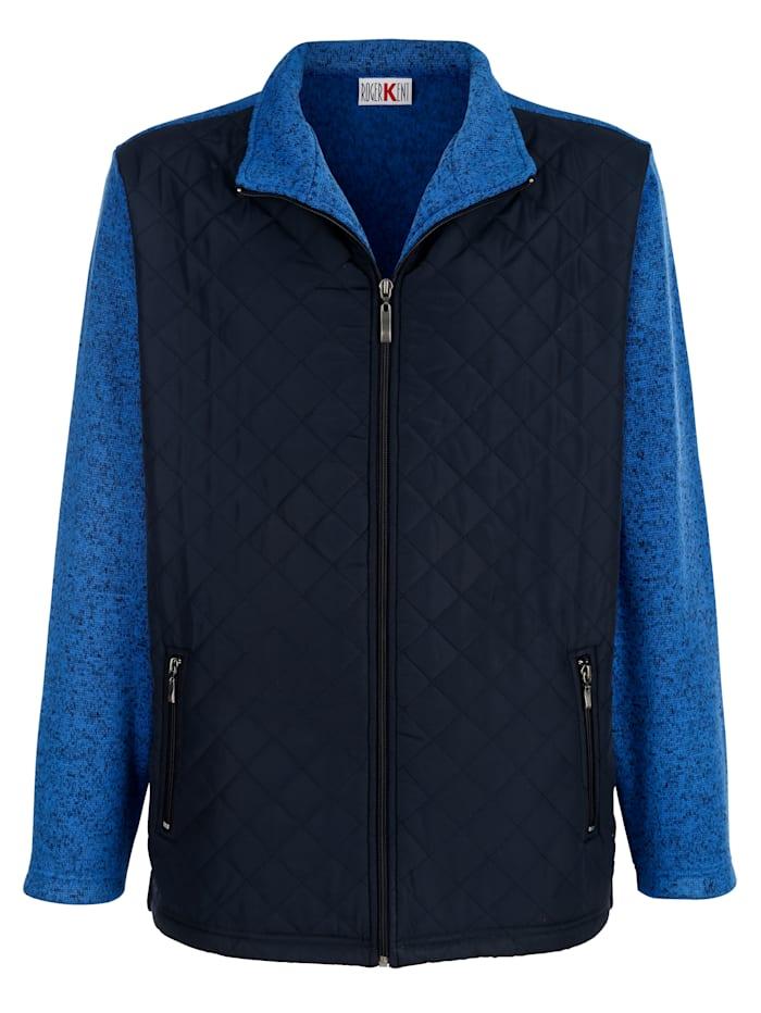 Roger Kent Fleece vest met stiksels voor, Blauw