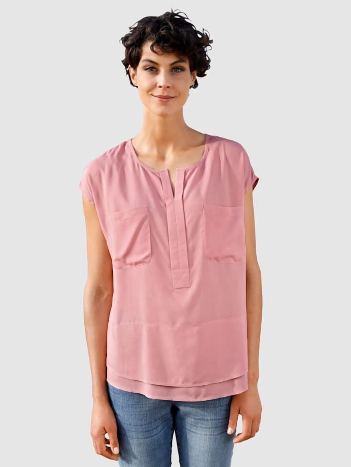 Dress In Bluse in fließender Qualität, Lavendel