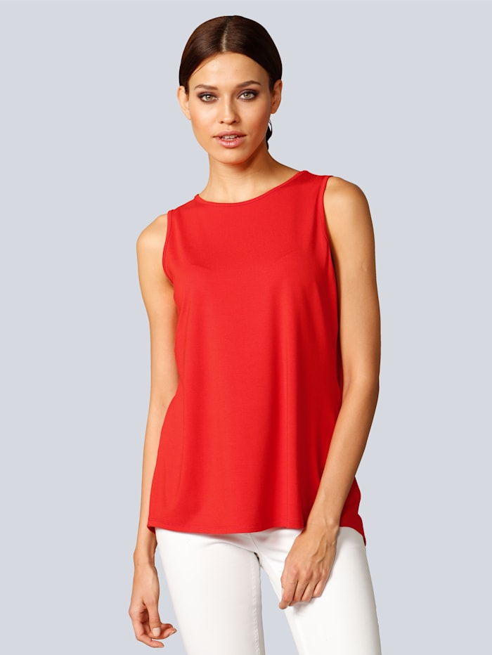 Alba Moda Shirt mit besonderem Detail im Rücken, Rot