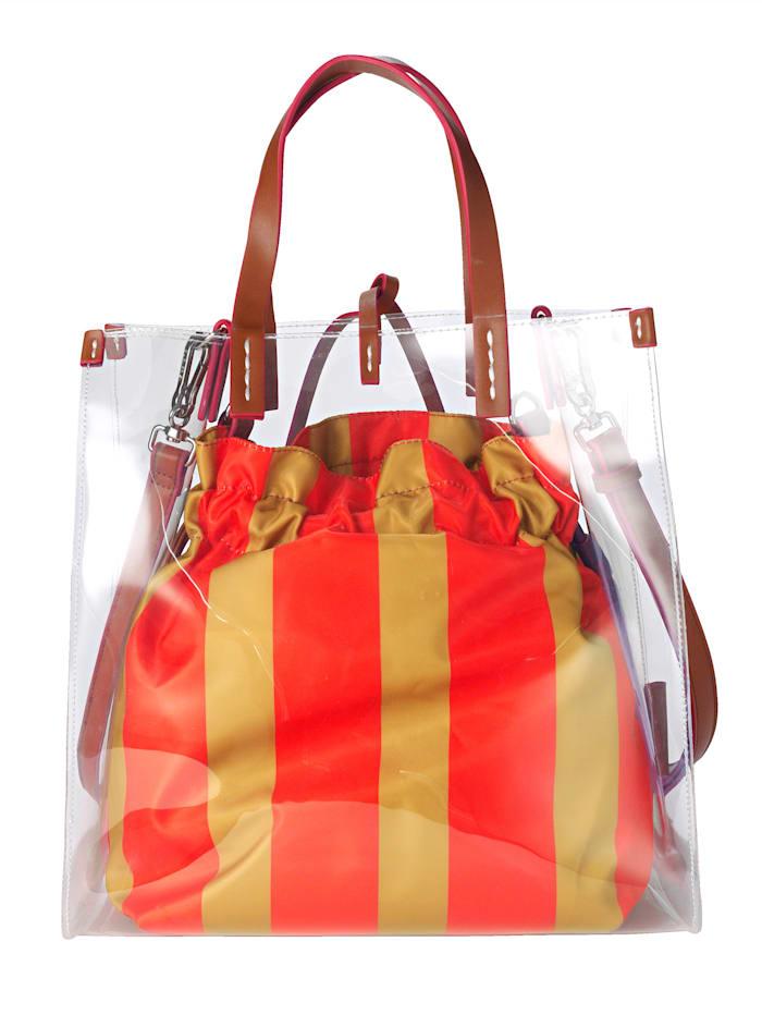 Handtasche, 2-tlg. aus hochwertigem Softmaterial 2-teilig