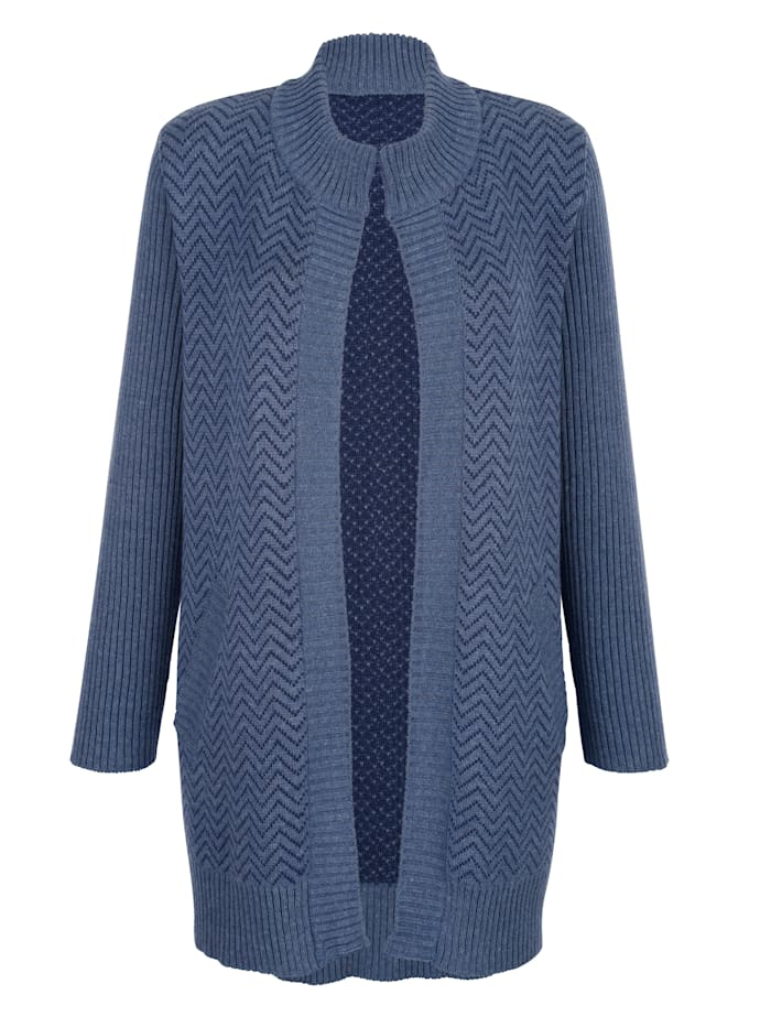 Cardigan in a graphic jacquard knit