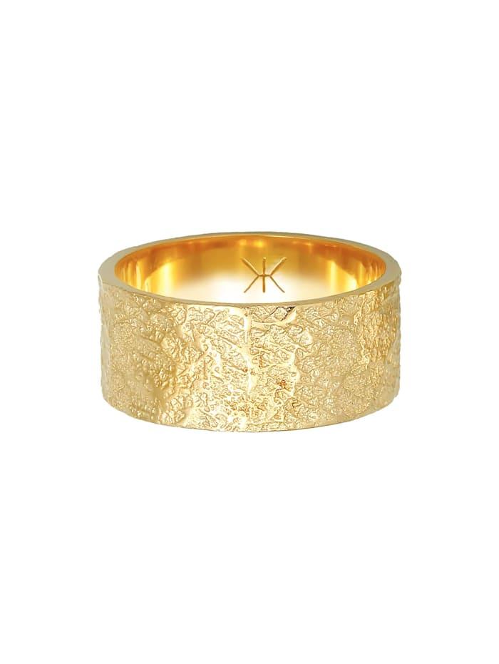 Ring Herren Bandring Organic Struktur 925 Silber