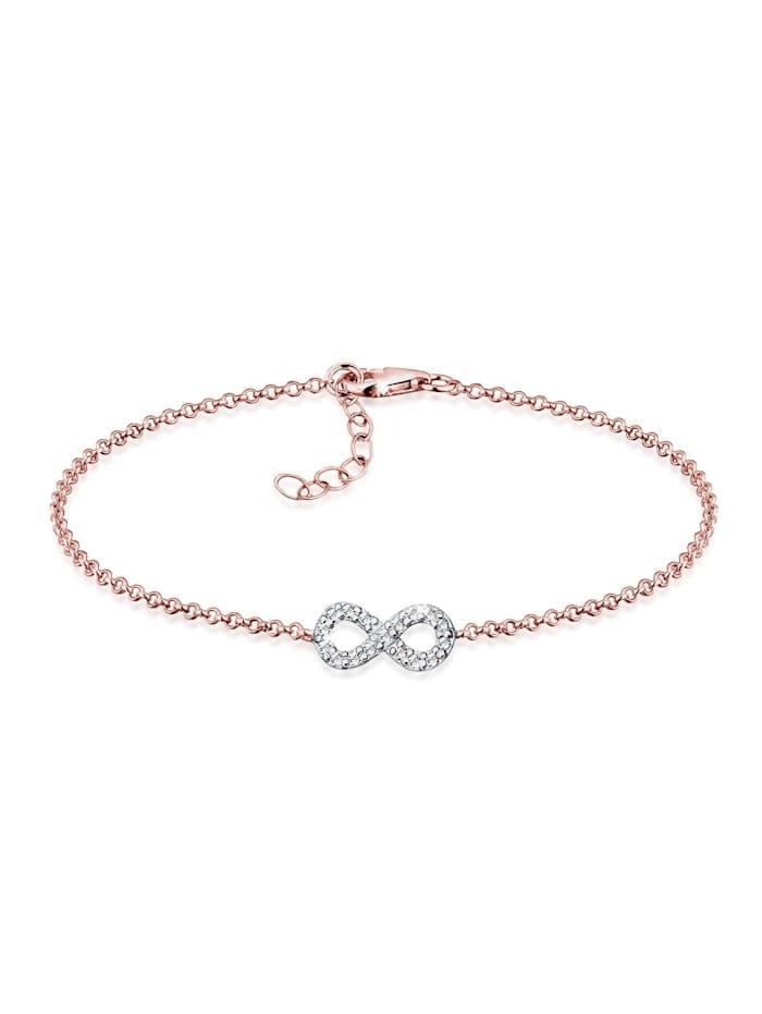 Elli Armband Infinity Bi-Color Kristalle Silber, Rosegold
