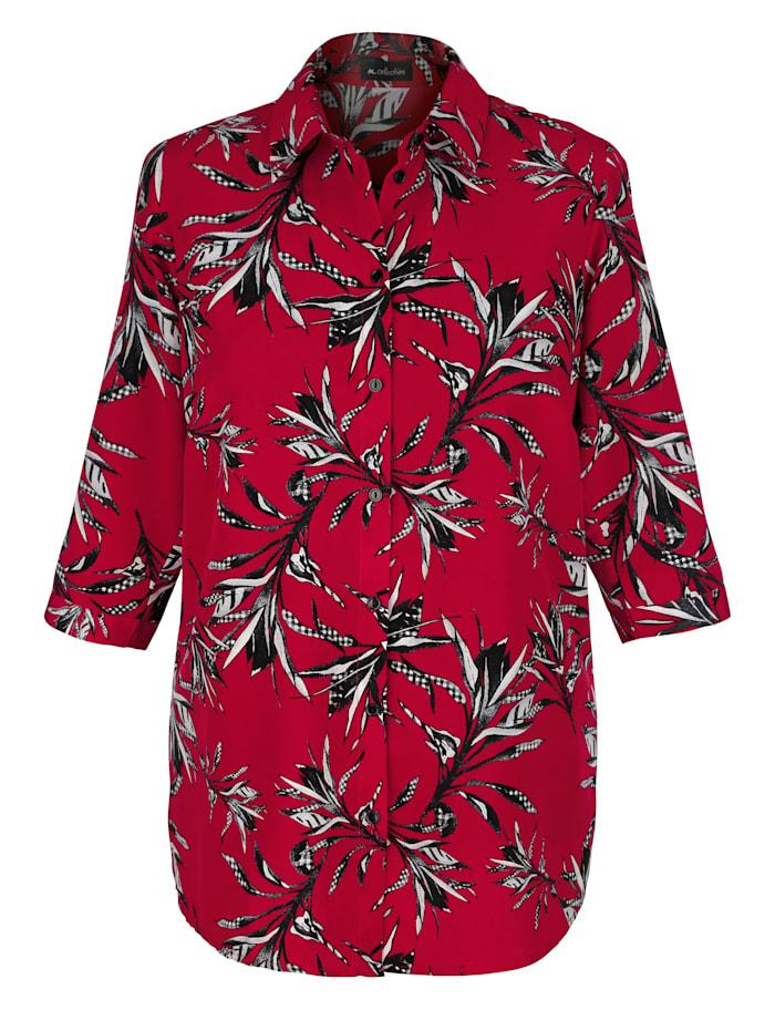 Bluse mit Blätterdessin
