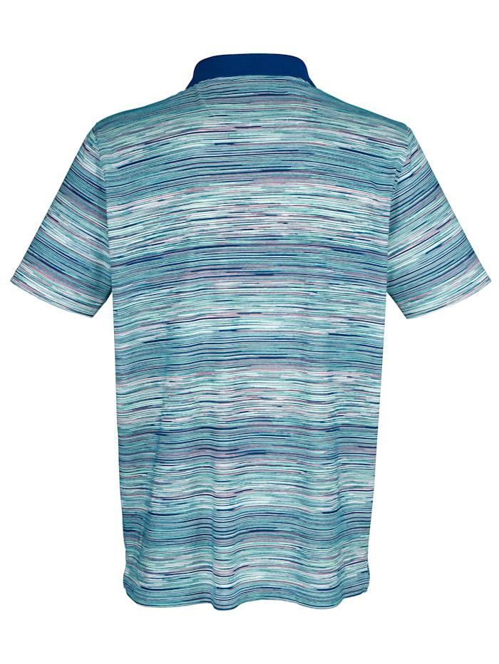 Poloshirt mit Streifendruck rundum