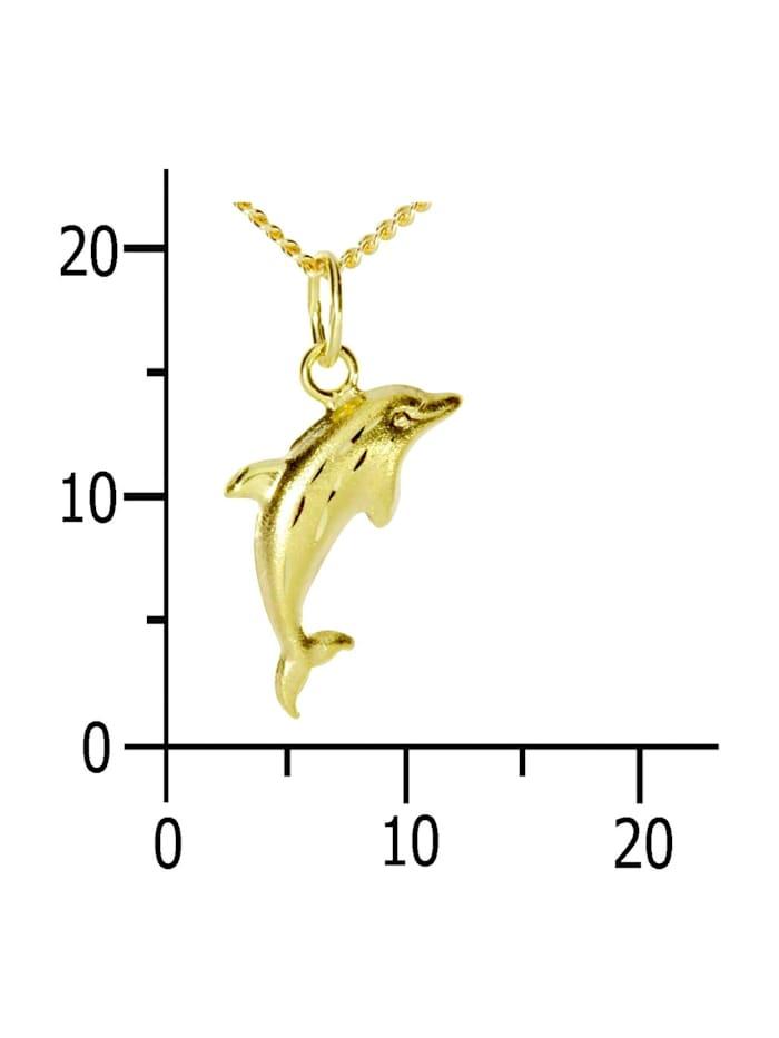 Kette mit Anhänger - Delphin - Gold 333/000 - ,