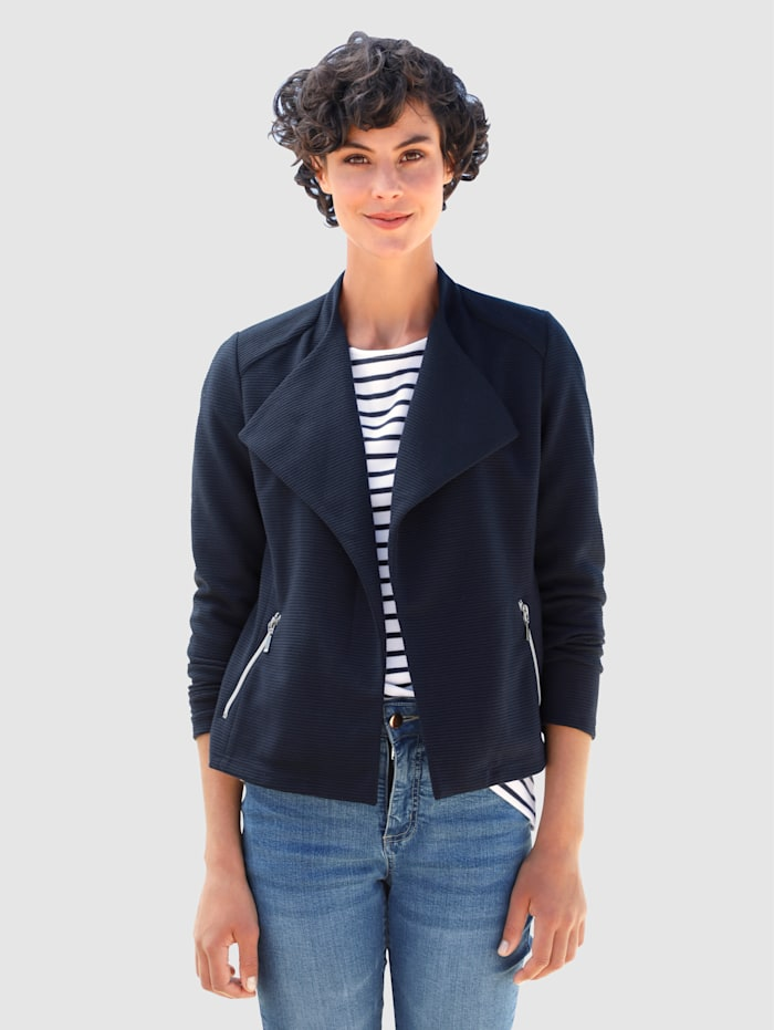 Dress In Blazer in offener Form, Marineblau