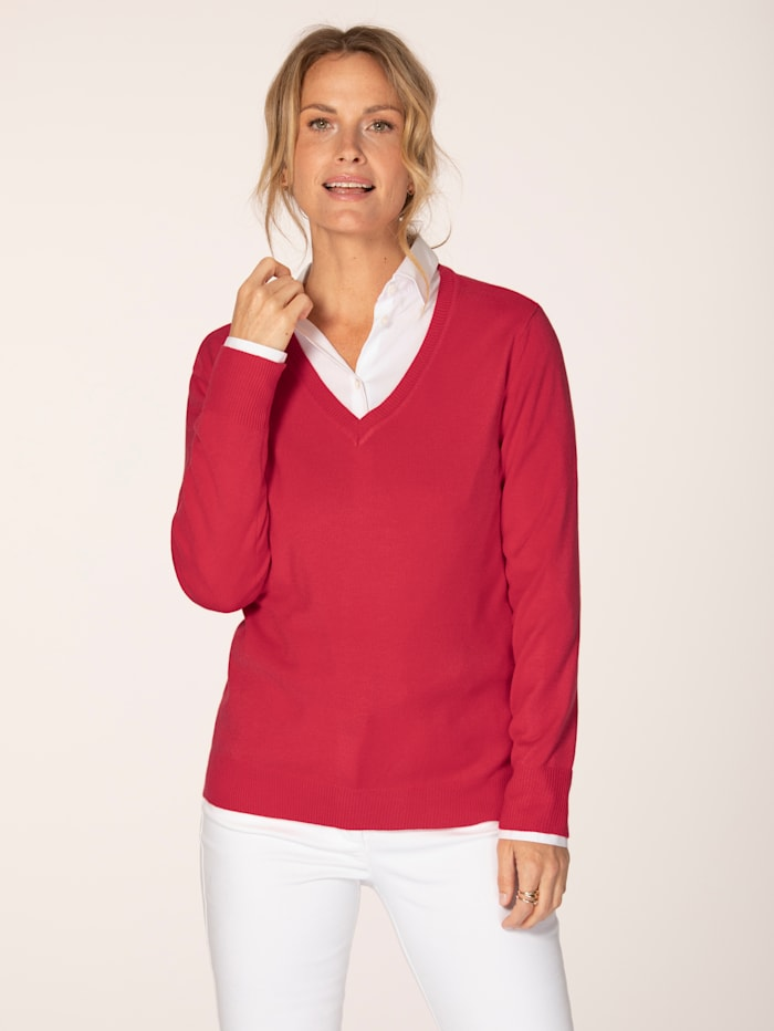 MONA Pull-over en maille douce, Corail