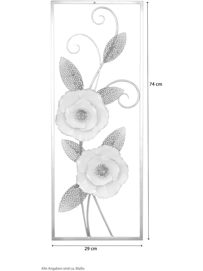 Wanddekoration Blumenmotiv mit Verzierungen