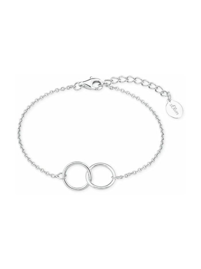 s.Oliver Armband für Damen, Sterling Silber 925, Silber