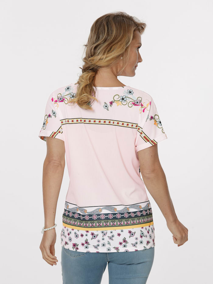Top with a striking border print