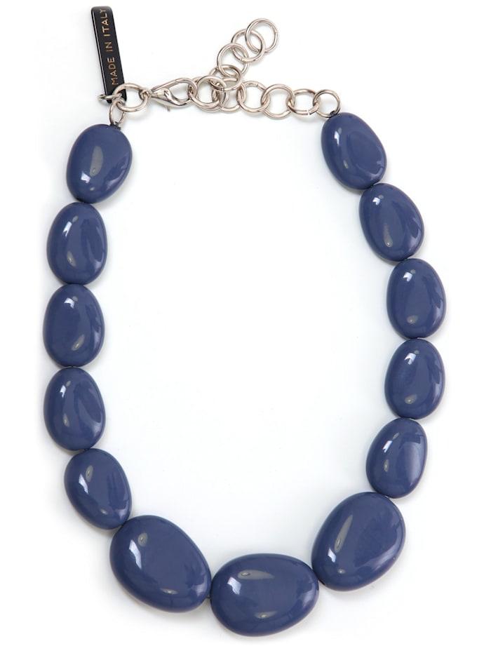 Collezione Alessandro Kurze Kette Bärbel aus unterschiedlichen Perlen, jeansblau