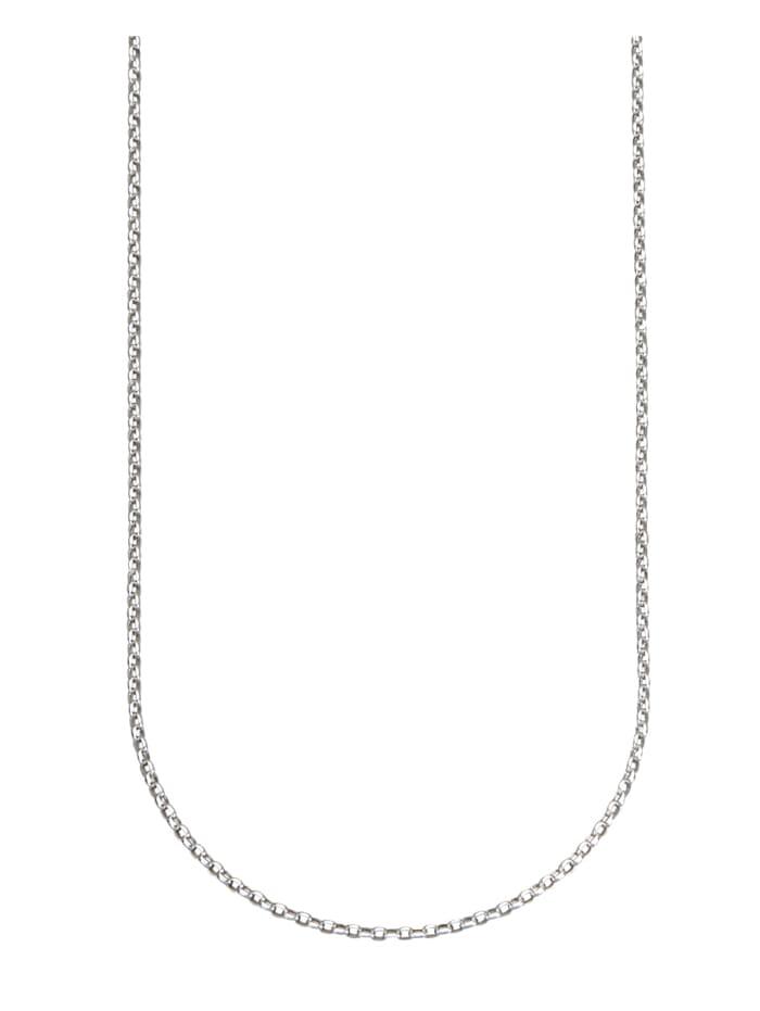 Erbskette in Weißgold 375, Silberfarben
