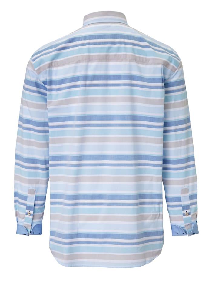 Overhemd met ingeweven dwarsstrepen