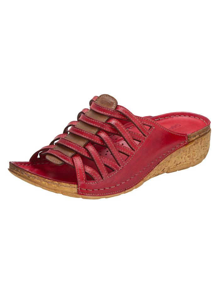 Gemini Muiltje met aantrekkelijke riempjes, Rood