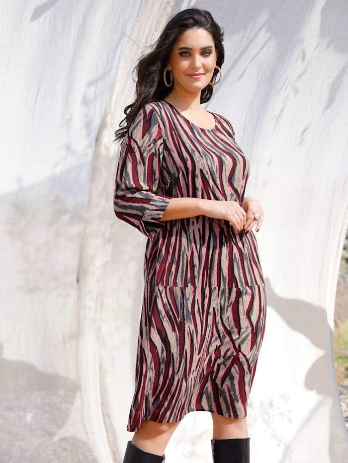 MIAMODA Kleid mit Allover Druck, Multicolor
