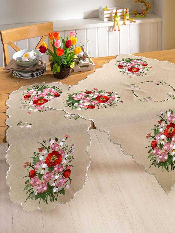 Webschatz Tischwäsche 'Jael', natur bunt