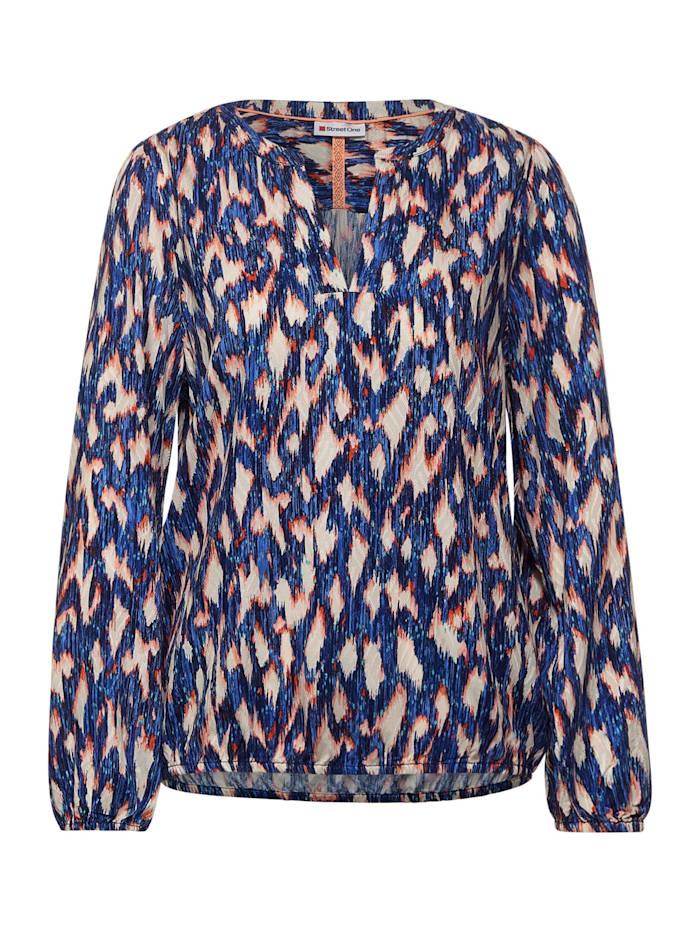 Street One Bluse mit Ikat Print, dark blue