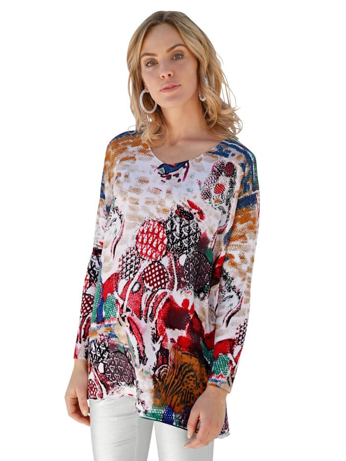 Pullover mit Strasssteinverzierung